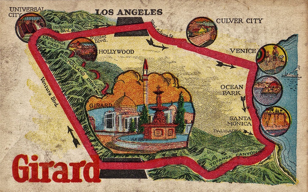 Fig. 20-Girard Map exaggerated postcard