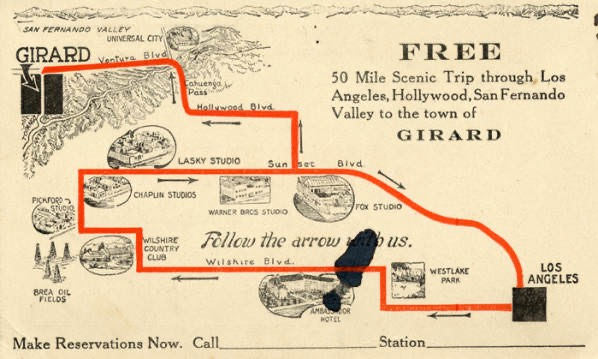 Fig. 24-Ticket for a sight seeing trip to Girard 2 (Now Woodland Hills)