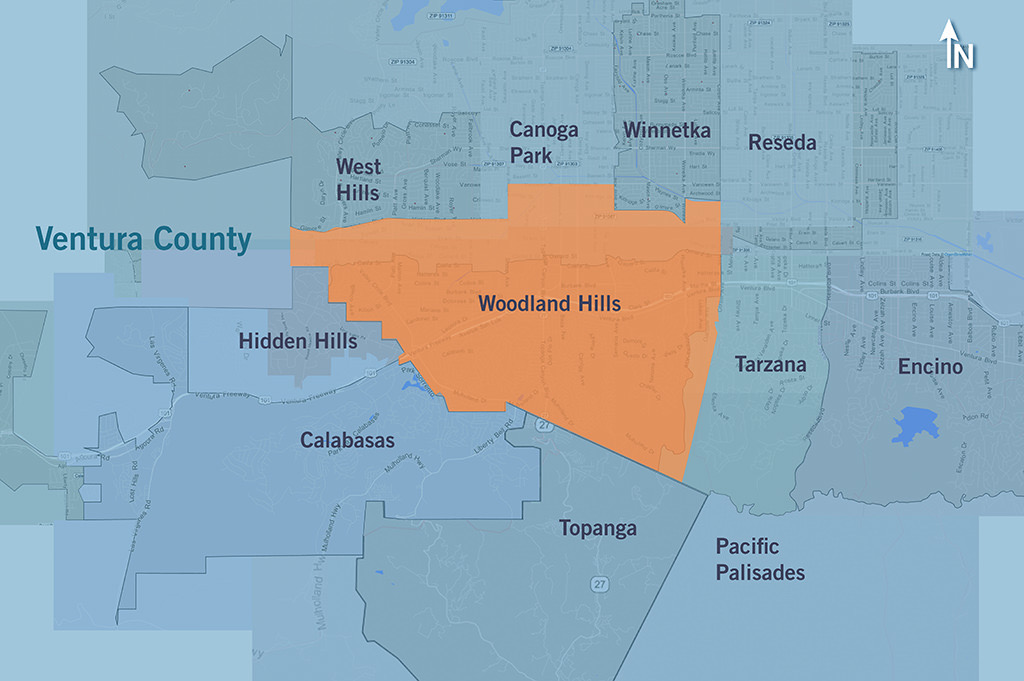 map-woodland-hills-area