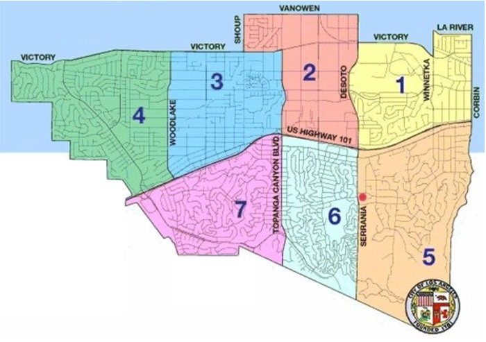 Woodland Hills Neighborhood Council Districts